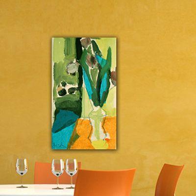 cuadros modernos de flores-flores y limón II