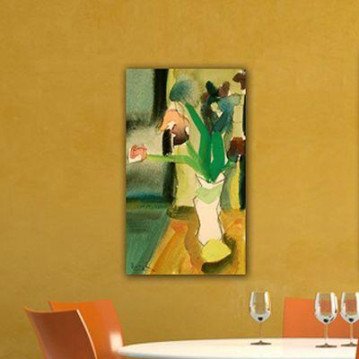 cuadros modernos de flores para el salón -flores y limón I