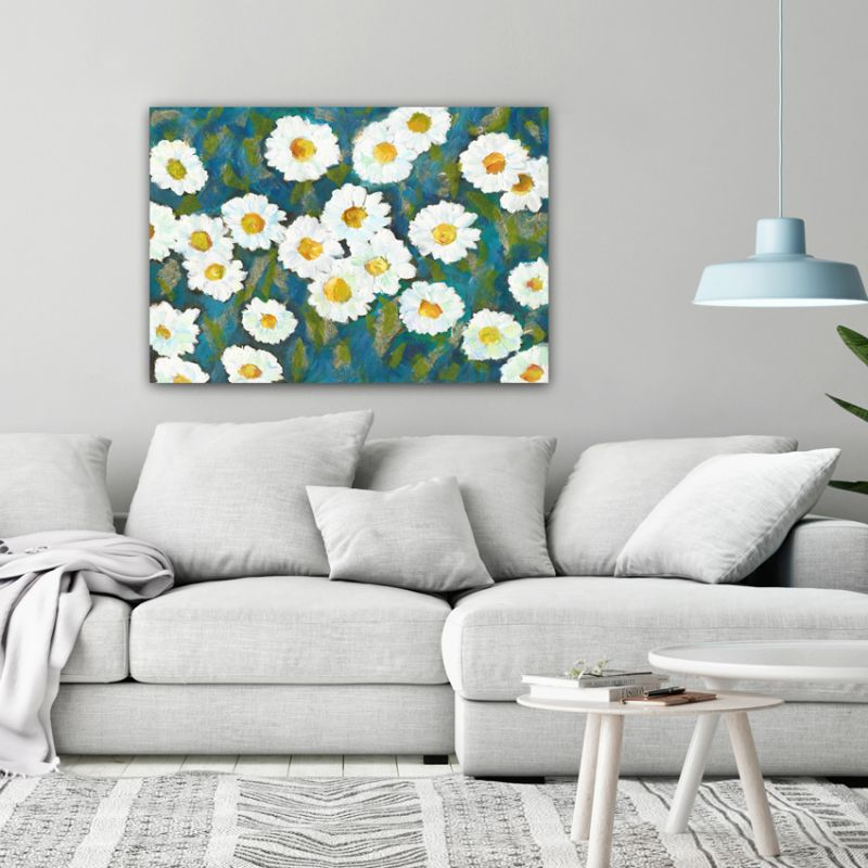 modern flower paintings to the living room-daisies