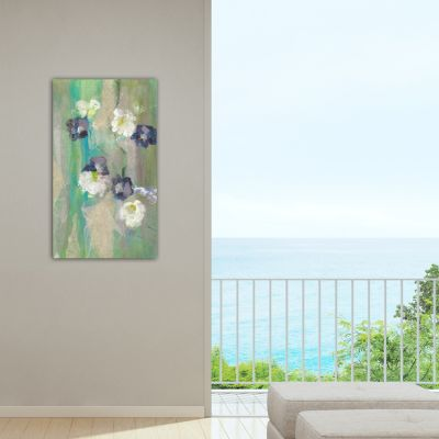 modern floral paintings to the living room- fiori