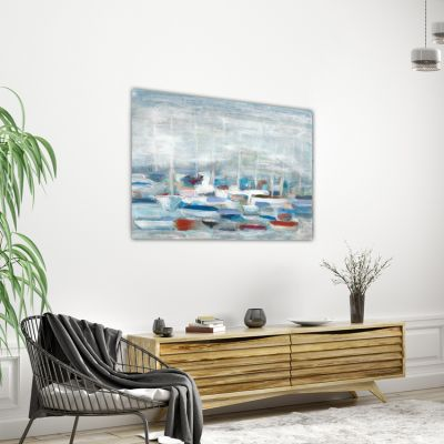 cuadros modernos de paisajes nauticos para decorar el salón-calma