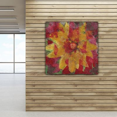 modern abstract flower paintings to the living room-vivace