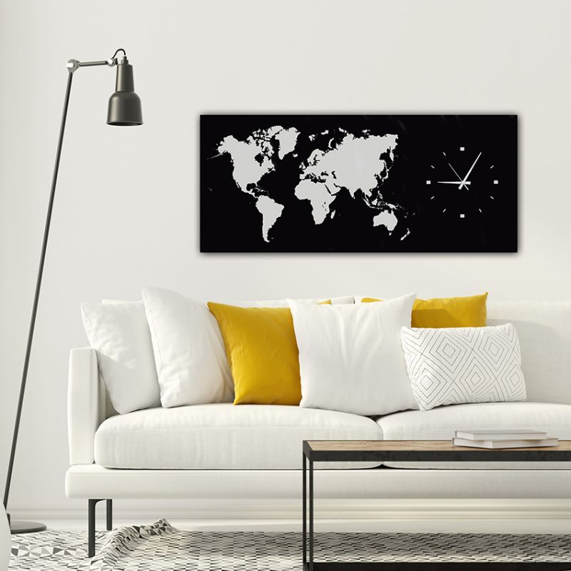 modern wall clocks design to decorate the living room-MMBLACK