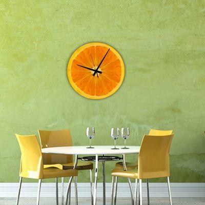 reloj de pared cocina diseño naranja
