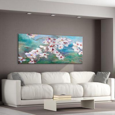 cuadros modernos de flores para el salón-flor de almendro