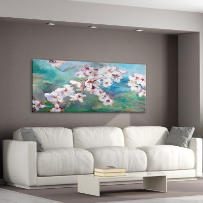 Flower painting almond blossoms