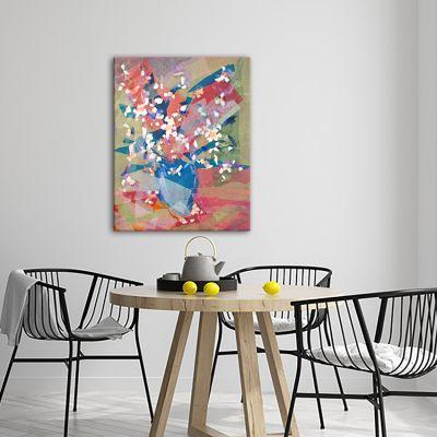 modern flower paintings-almond flower bouquet