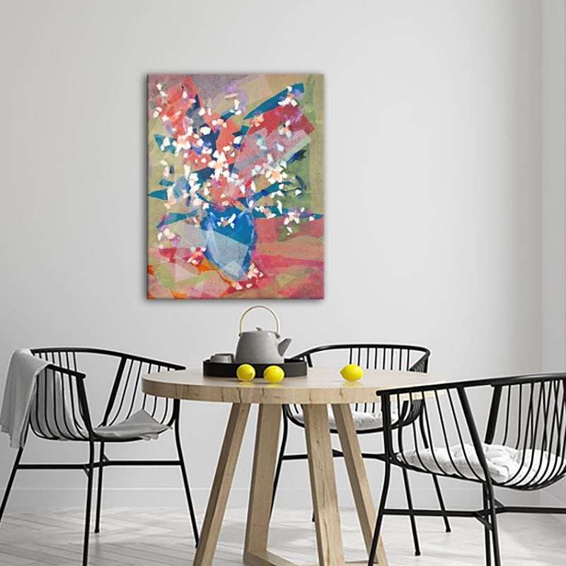 modern flower paintings for the living room-almond flower bouquet