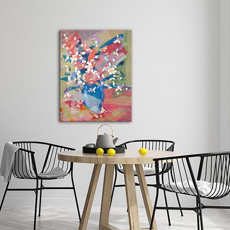 Quadre modern de flors per la cuina-ram de flors d'atmetller