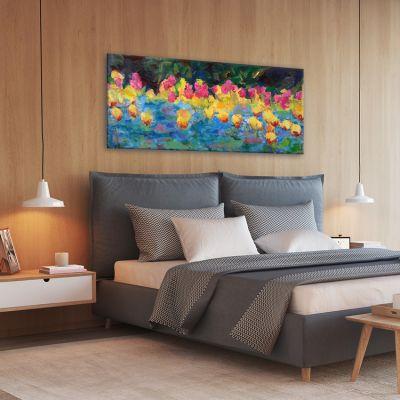 cuadros modernos de flores para el dormitorio-despertar de primavera