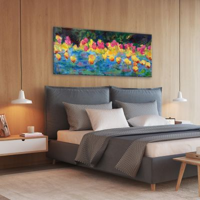 modern flower paintings for the bedroom-spring awakening