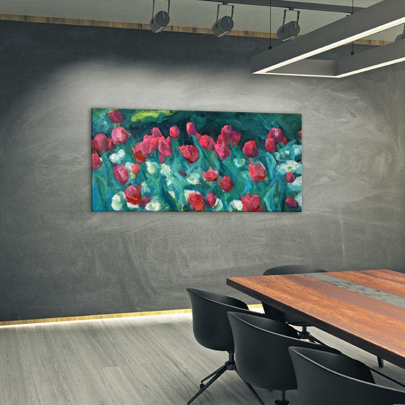 cuadros modernos de flores para despachos -tulipanes