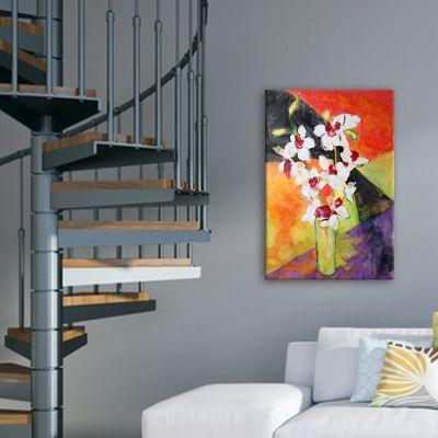 cuadros modernos de flores para el rellano de la escalera -orquídeas