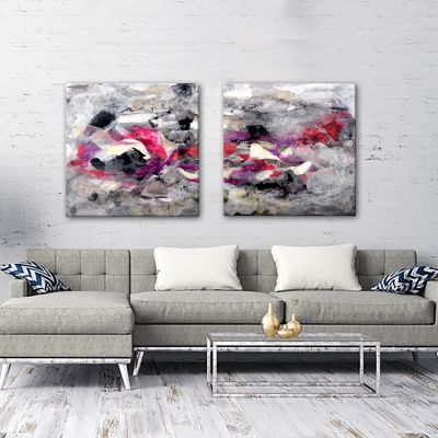 abstract modern paintings-diptych discernment