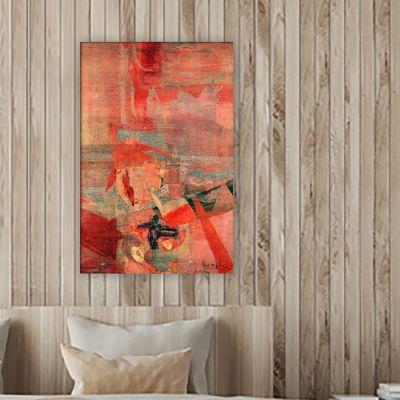quadre figuratiu modern per decorar petits espais de la casa -diàleg devant l'entorn