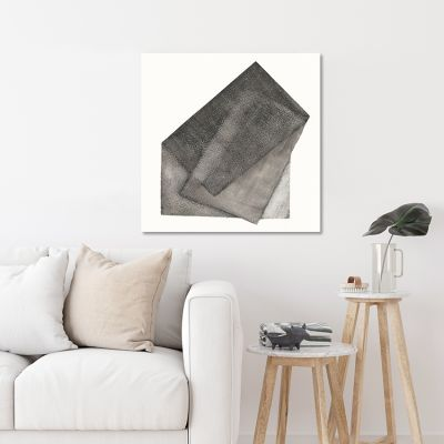 modern geometric painting to the living room- gray-gray