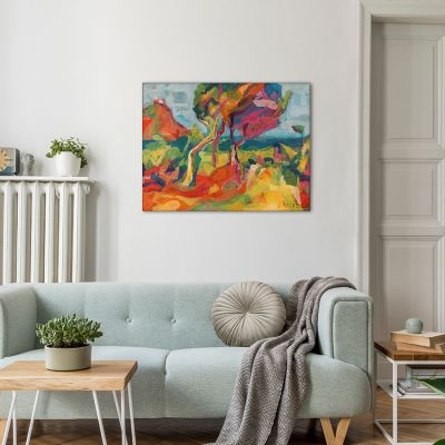 abstract landscape paintings for the diving room-Montroig landscape