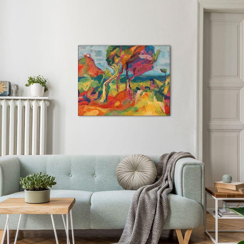 cuadros modernos paisajes para el salón-paisaje de Montroig