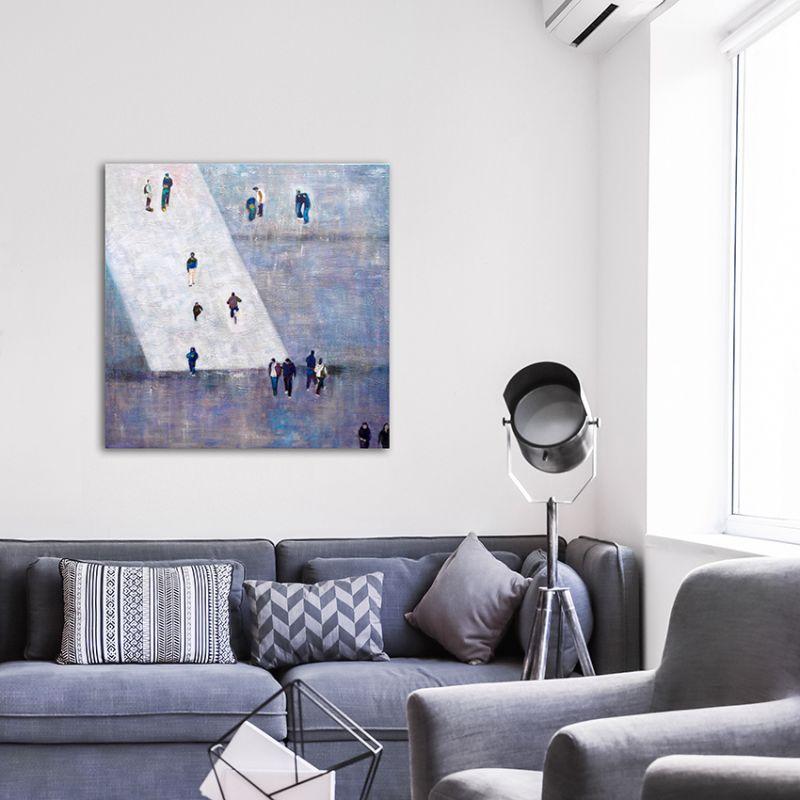 cuadros modernos urbanos para grandes espacios-proporción I