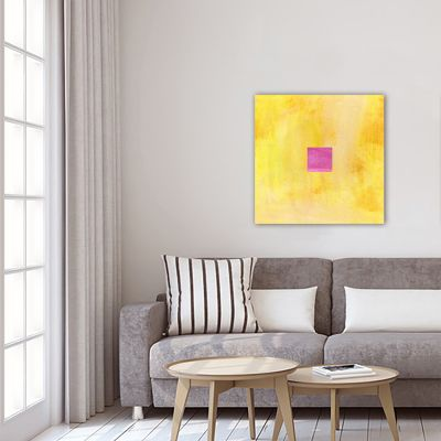 modern geometric painting for the living room-vibrant I