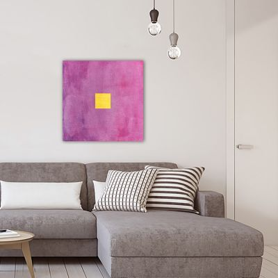 modern geometric painting for the living room- vibrant II