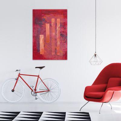 cuadro abstracto geométrico para tu sala de estar- secuencia vertical