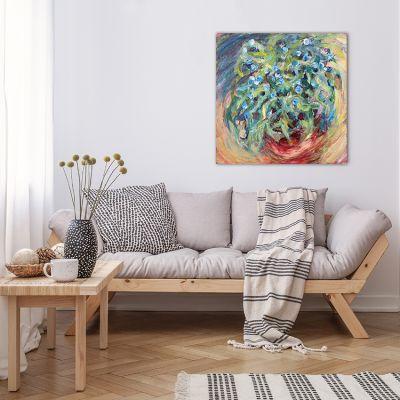 cuadro abstracto floral para el salón - eucaliptus