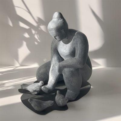 Sculpture moderne design petite colombe