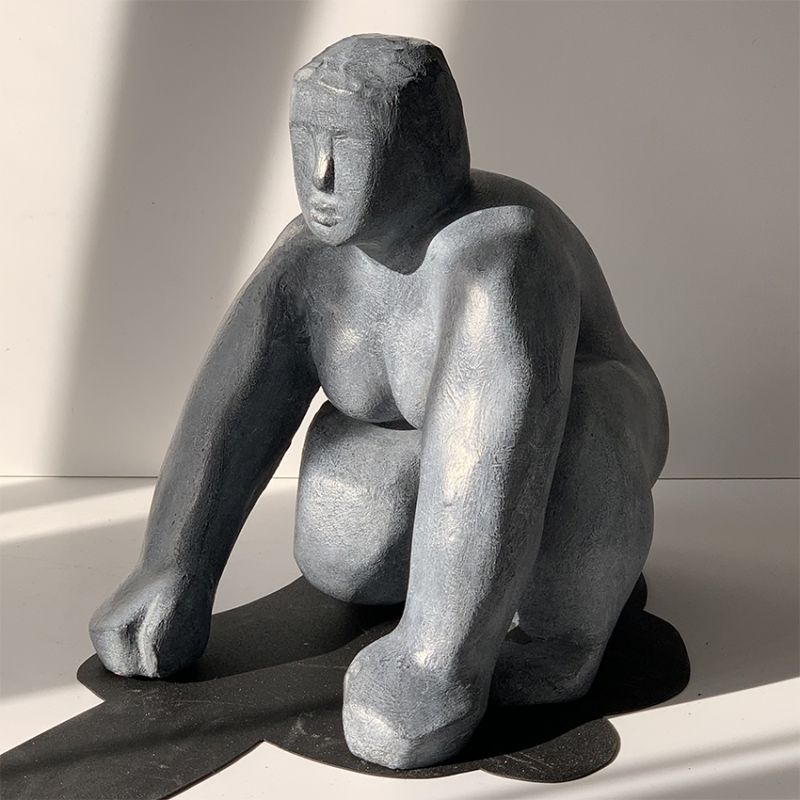 escultura moderna para decorar el salón - diseño potencial