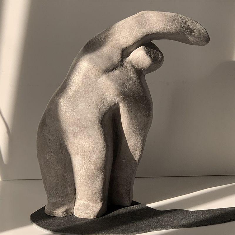 escultura moderna diseño hombre (pareja)