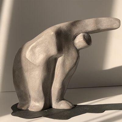 escultura moderna diseño mujer (pareja)