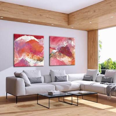 quadre abstracte diàleg compartit