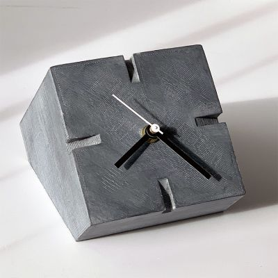 modern table clock to the living room- Cubic