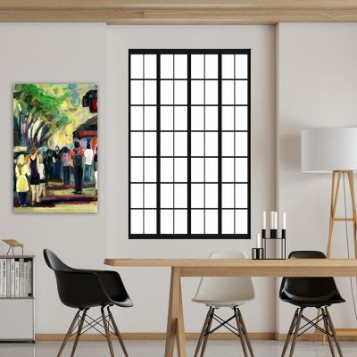 abstract urban paintings for the living room-the Ramblas II