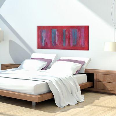 cuadros modernos abstractos para decorar el dormitorio -trazos vibrantes