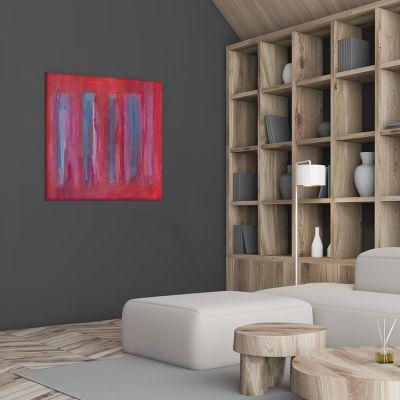 cuadros modernos abstractos para decorar el dormitorio -trazos vibrantes II
