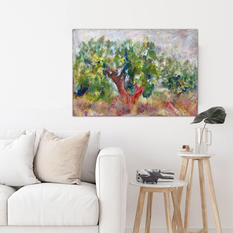 cuadros modernos paisajes para el salón-olivos