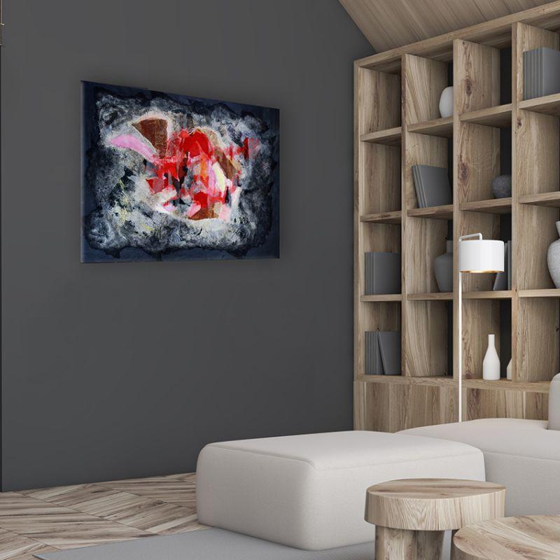 cuadros modernos abstractos para decorar el rellano de la escalera. fuego interior