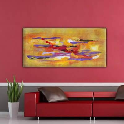 cuadro moderno abstracto. complementario I