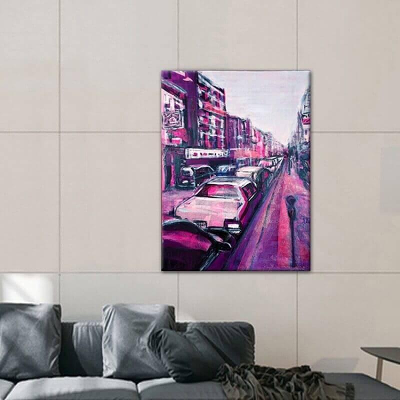 cuadros modernos ciudades  calle en Nueva York