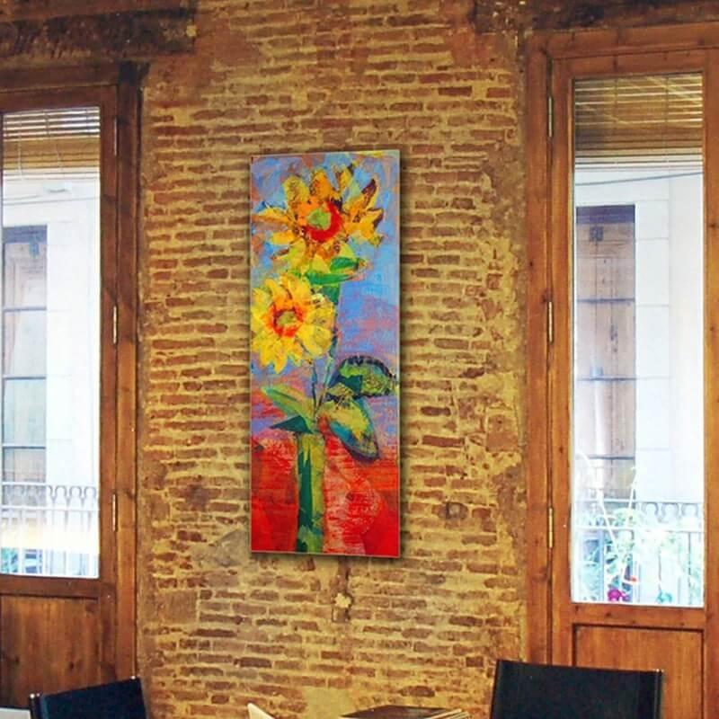 cuadros modernos de flores girasoles