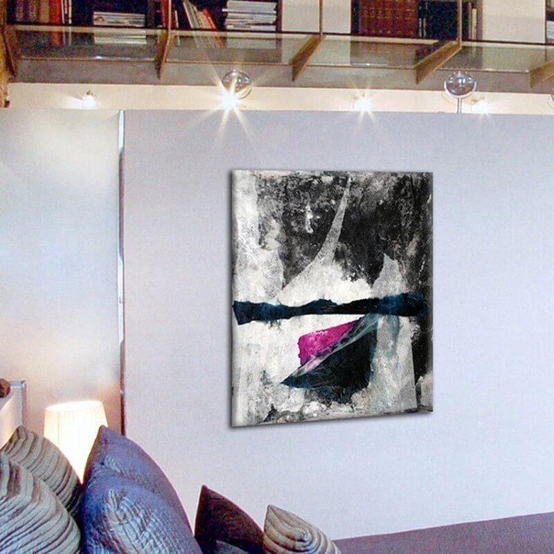 cuadros abstractos modernos para decorar el salón -pensamiento compartido II