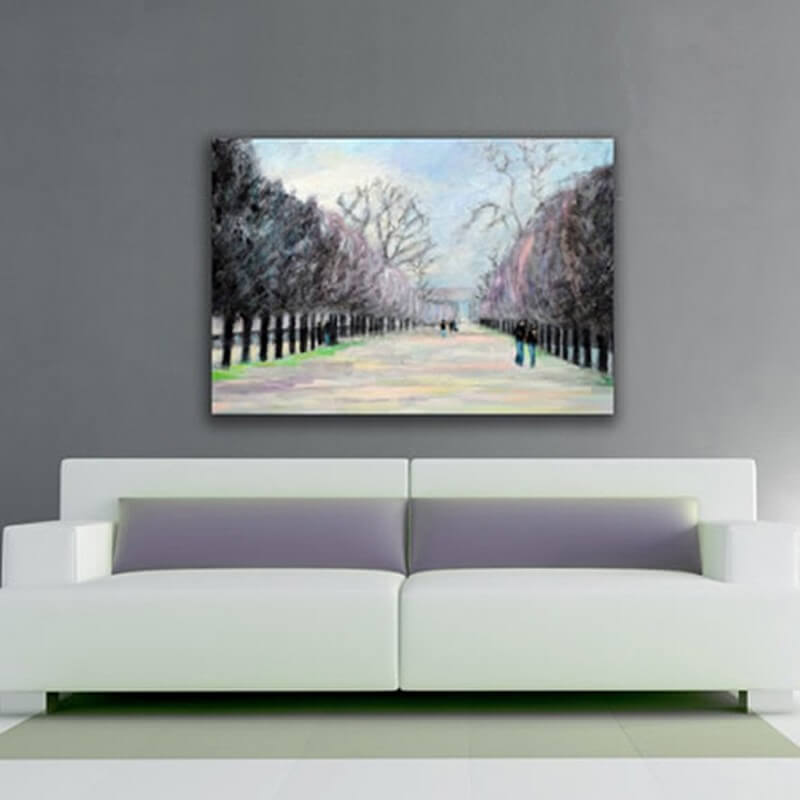 modern urban paintings for the living room -les Tuileries