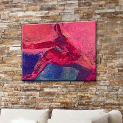 cuadros modernos figurativo  el salto