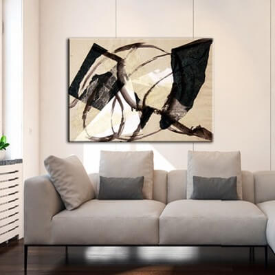 Tableau abstraite moderne pour le salon- coup de vent