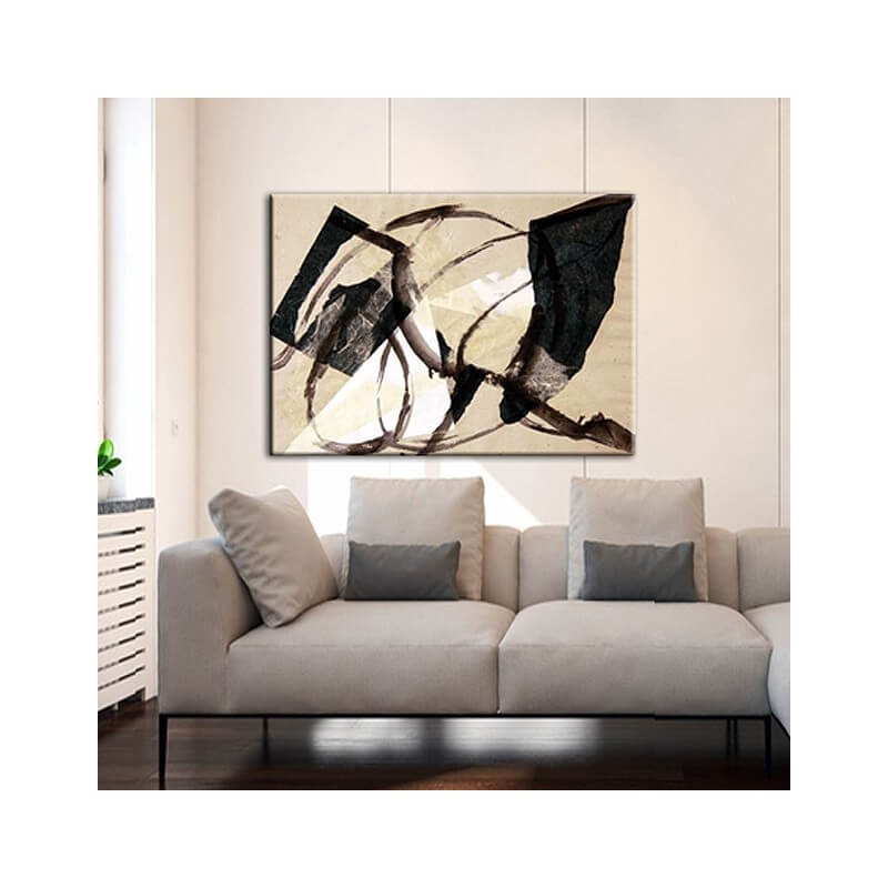 cuadro moderno abstracto. golpe de viento