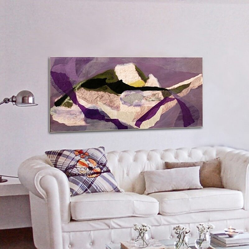 Abstract painting shared thoughts