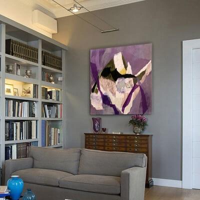 cuadros modernos abstractos para decorar pequeños rincones de tu casa - compartir pensamiento