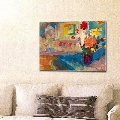cuadros modernos abstractos bodegones flores y ventana