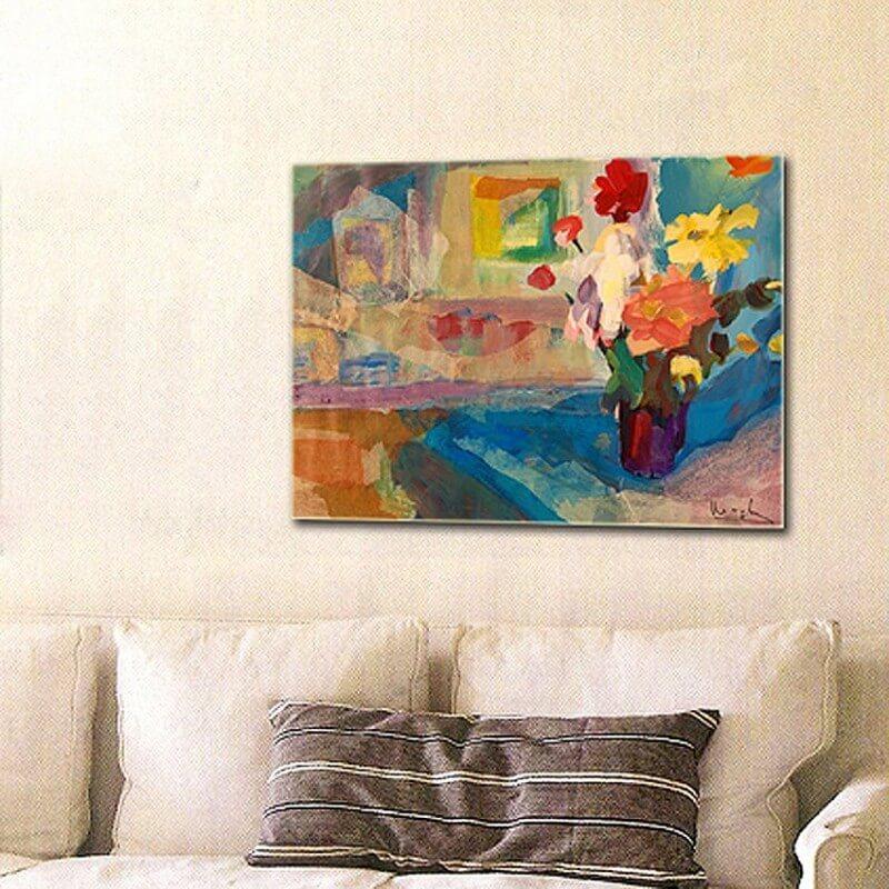 cuadro de flores flores y ventana
